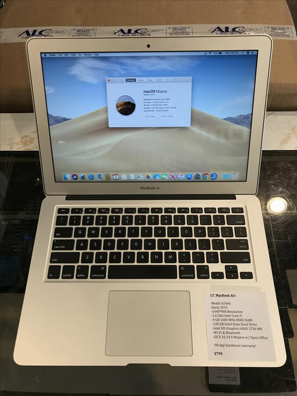 "13"" MacBook Air 1.6GHz Intel Core i5 4GB RAM 128GB SSD w/ Warranty!"