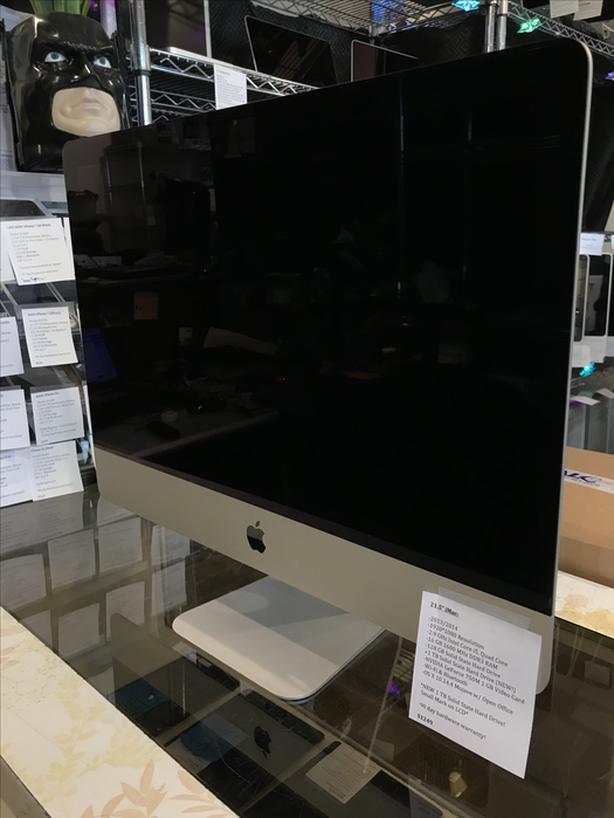 """21.5"""" iMac 2.9 GHz i5 Quad 16GB RAM 120GB + 1TB SSD w/ Warranty!"""