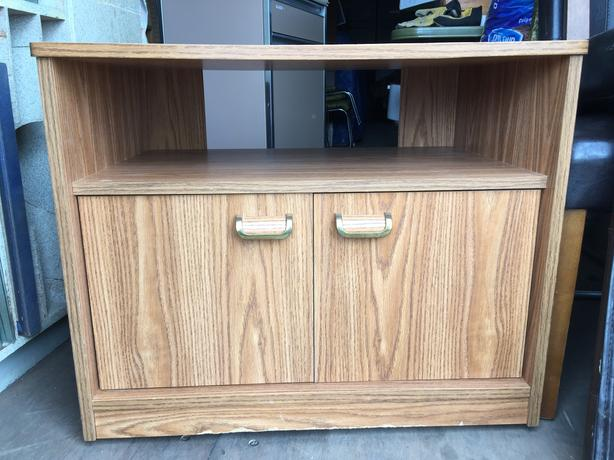 T.V. Stand with cupboard
