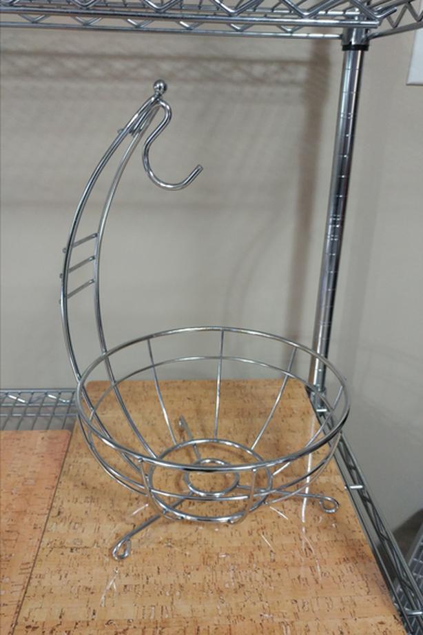 Chrome Fruit Basket - w/ Banana Holder