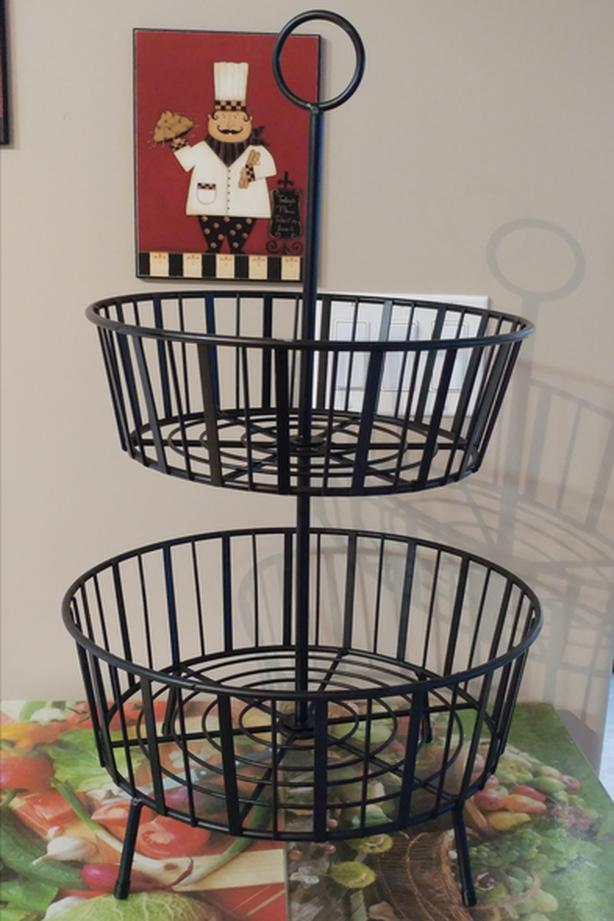 2 Tier Basket - Black