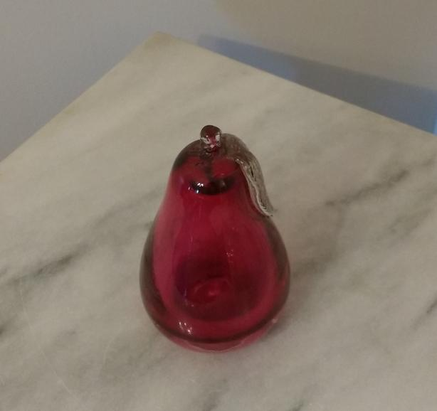CRANBERRY GLASS PEAR