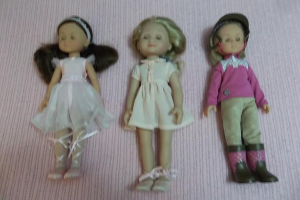2 Corolle dolls and one Melissa and Doug