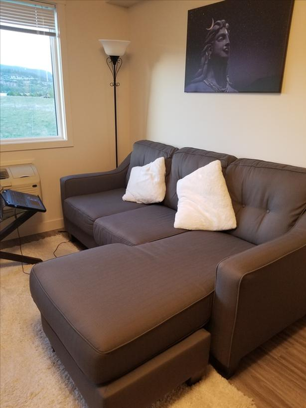 5 month old Grey Sectional Sofa- Bargain!