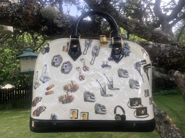 **LOUIS VUITTON** Alma Medium Size Handbag plus Scarf