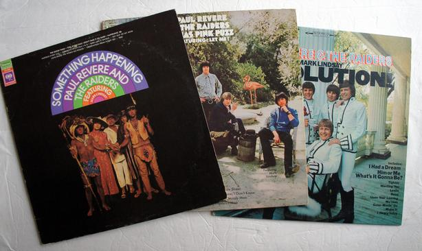 Three vinyls fromPaul Revere and The Raiders featuring Mark Lindsay