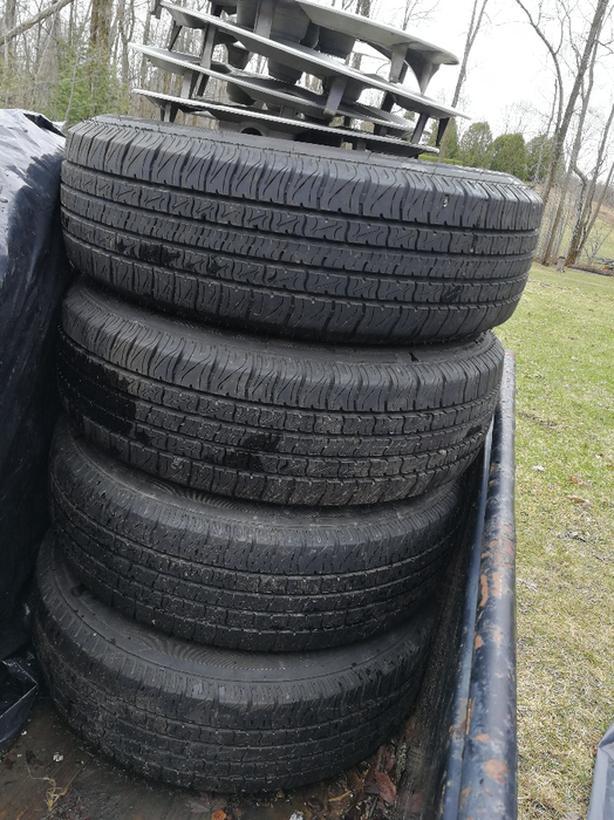 185 70r14 88t all season motor master tires (4) on rims for sale