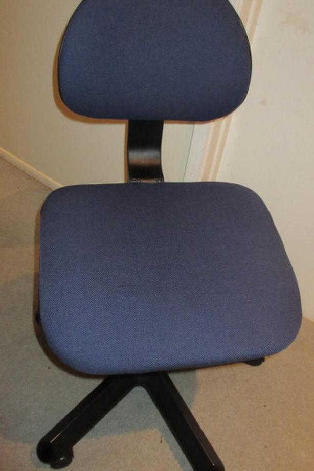 Blue Ikea swivel office chair