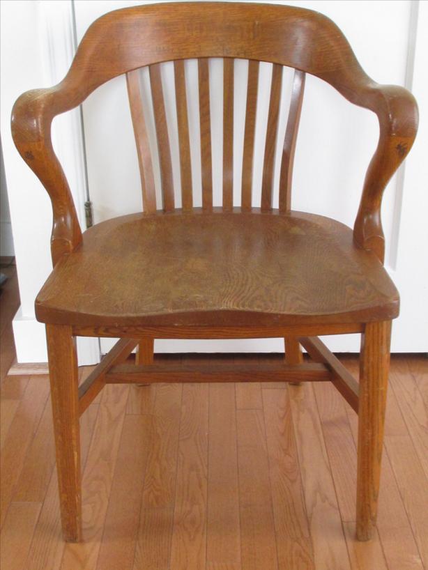 Antique Krug Oak Office Chair