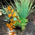 Top Fin® Green and Orange Aquarium Plant - Like New