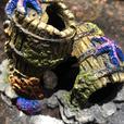 Top Fin® Barnacle Barrel Aquarium Ornament - Like New