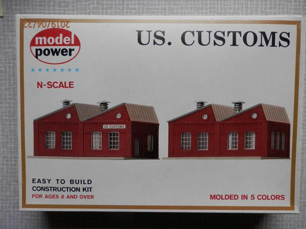MODEL POWER N SCALE BUILDING KIT U.S. CUSTOMS #1547