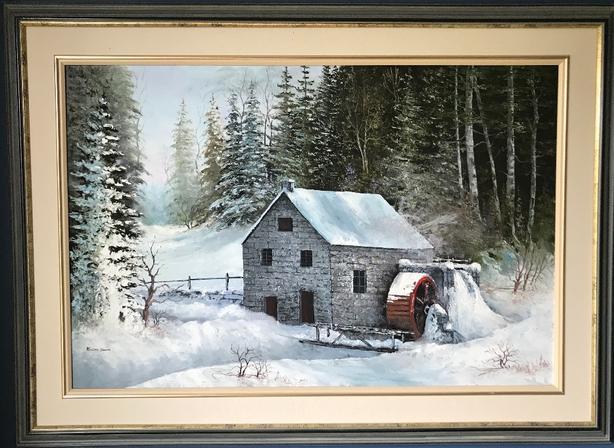 "Beautiful painting ""Mill"""