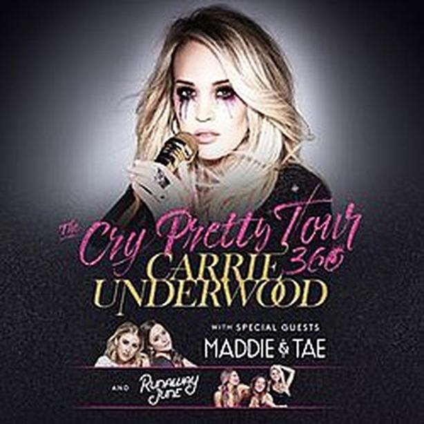 ONE General Admission FLOOR Ticket for Carrie Underwood Cry Pretty Tour 360