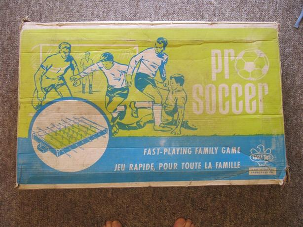 1950's Eagle Table Top Pro Soccer Game WITH BOX. VERY RARE Foosball. Fuzboll