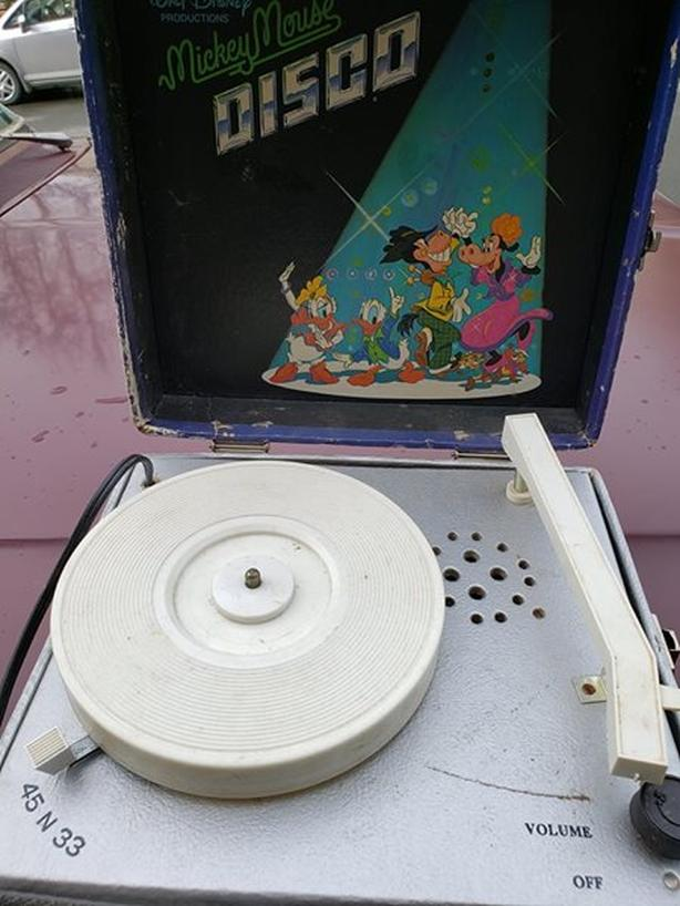 Vintage Mickey Mouse turn table.