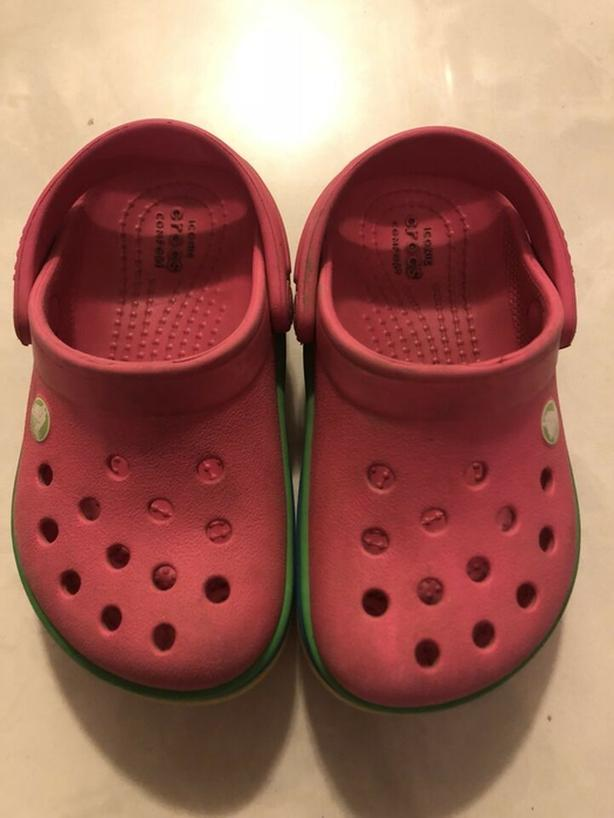 """CROCS"" Toddler Girls Pink - Size 7"