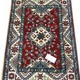 20980-Kazak Hand-Knotted/Handmade Afghan Rug/Carpet Tribal/Nomadic Authentic