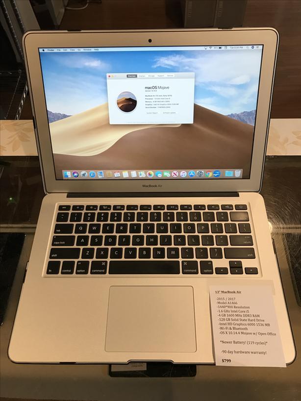 "13"" MacBook Air 1.6GHz Intel Core i5 4GB RAM 128GB SSD w/ Warranty!"
