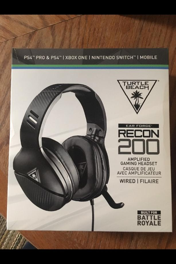 turtle beach recon 200 ps4/xbox/switch headset