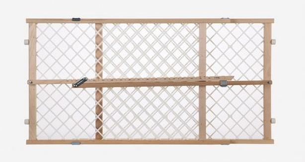 Real wood safety gate