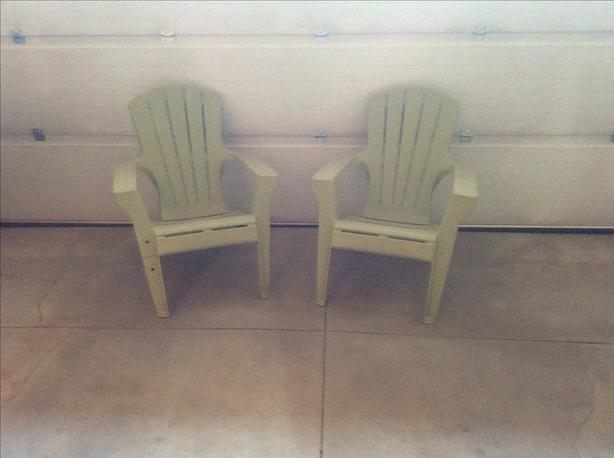 Two Adirondack Lawn Chairs