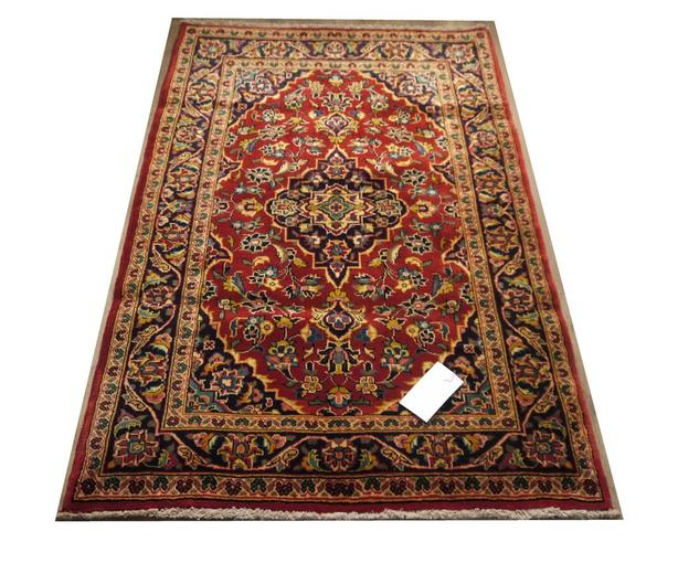 21485-Kashan Hand-Knotted/Handmade Persian Rug/Carpet Traditional Authentic