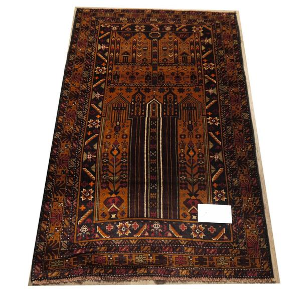 21388-Balutch Hand-Knotted/Handmade Afghan Rug/Carpet Tribal/Nomadic Authentic