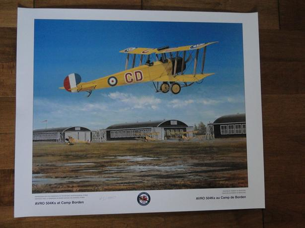 "LIMITED EDITION ""AVRO 504K'S AT CAMP BORDEN"" PRINT"