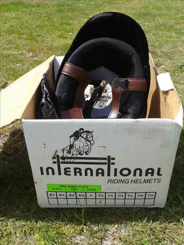 International Pro Rider Helmet with Rain Cover