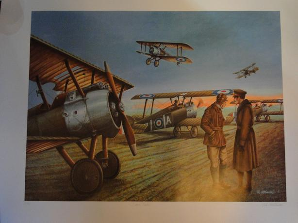 Artist Vic Atkinson dawn patrol print signed and numbered 21/500