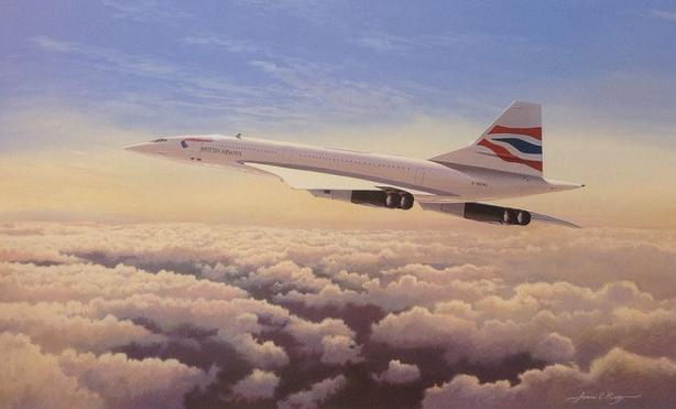 QUEEN OF THE SKIES, CONCORDE 19 x 27