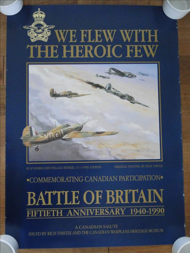 Rich Thistle Poster 1940-1990 in the Battle of Britain 50th Anniversary