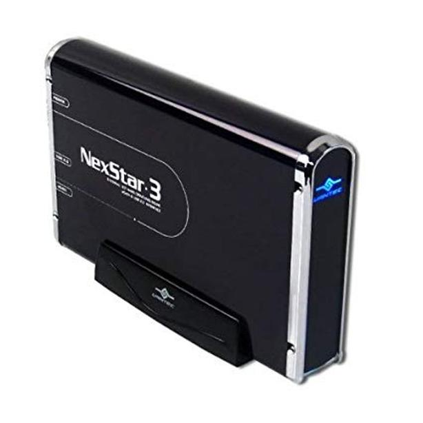 Sleek black external aluminum hard drive 250GB USB