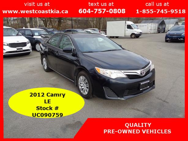 2012 Toyota Camry LE**Bluetooth**Cruise**AC**AUX & USB Inputs