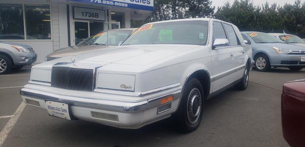 Blow Out Sale 1989 Chrysler New Yorker 156k BC NO CLAIMS