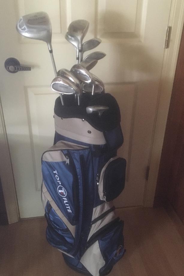 Ladies  Top Flite RH Golf Clubs, Cart Bag  Top Flite Prestige Model
