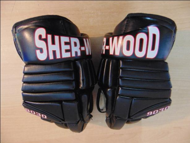 Hockey Gloves Men's Size 13 inch Sherwood No Holes Black and Red