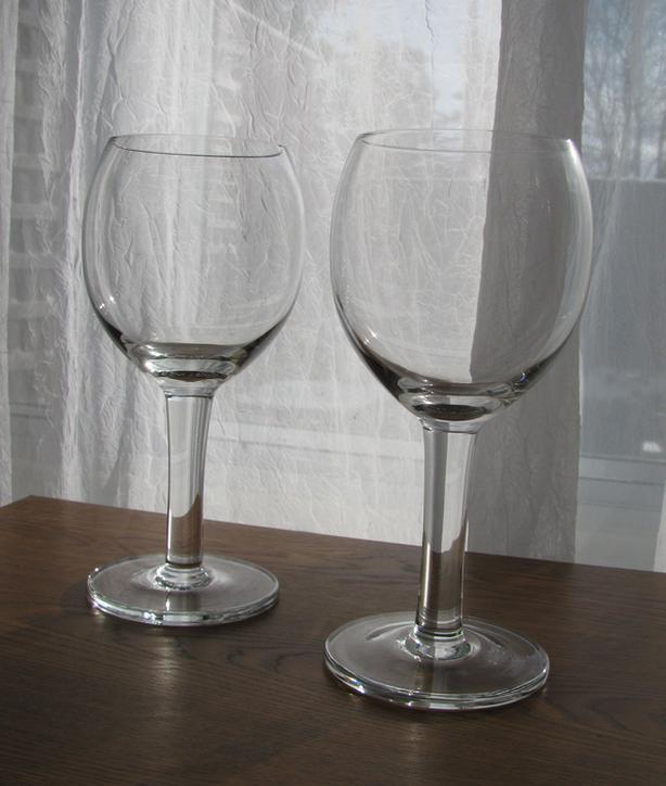 2 Oversized Crystal Glasses