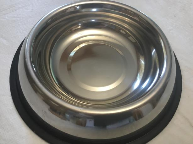 Large Stainless Steel No Spill Bowl