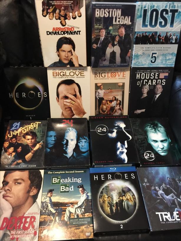 17 dvd tv seasons, all for $50