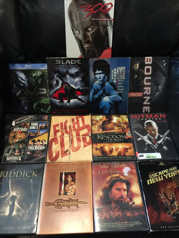28 Mature action/adventure dvd movies, all for $40