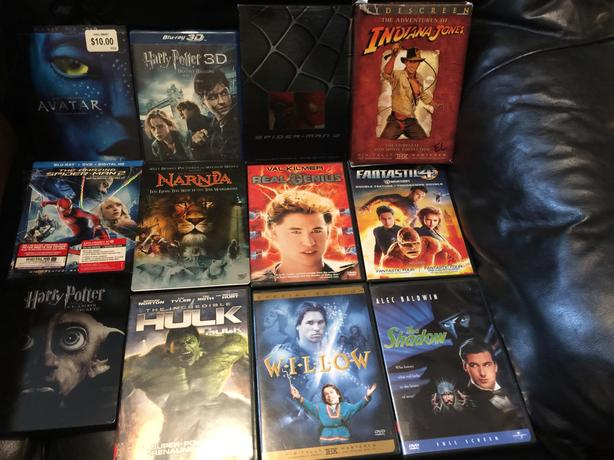16 family action/adventure movies. All for $30