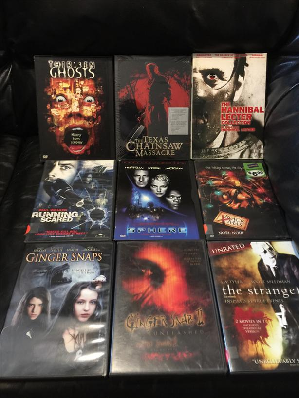 11 horror/suspense dvd movies. All for $30
