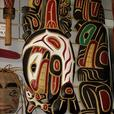 Coast Salish Native Hand Carved and Painted Art
