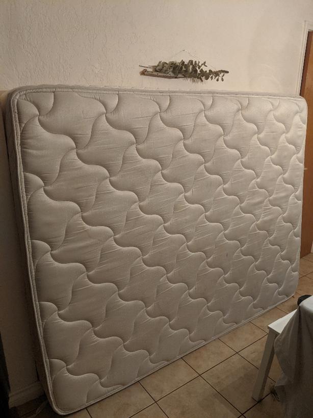 FREE: Queen mattress + Boxspring