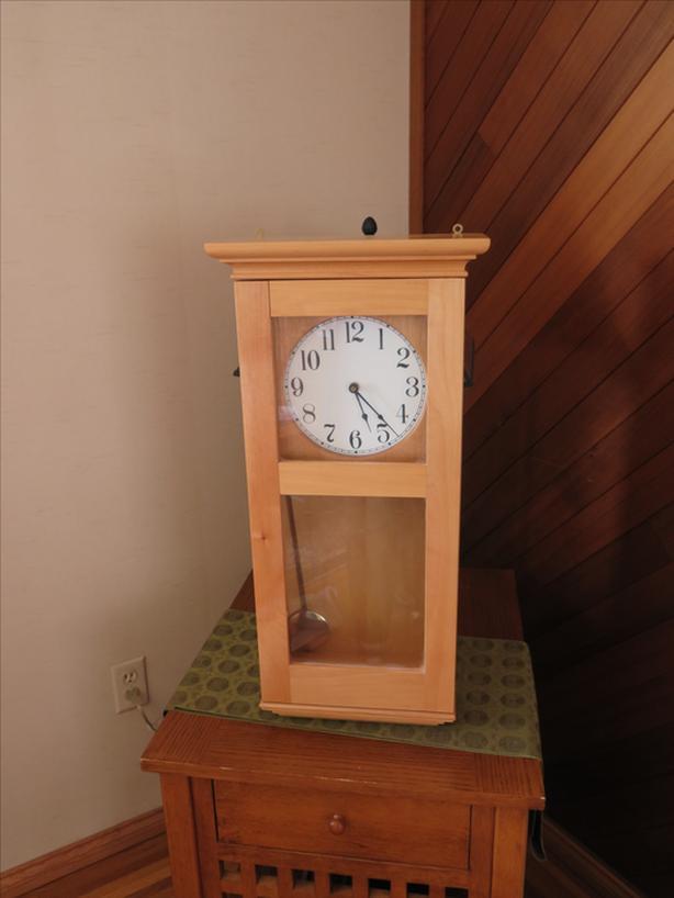 Hand crafted pendulum clock