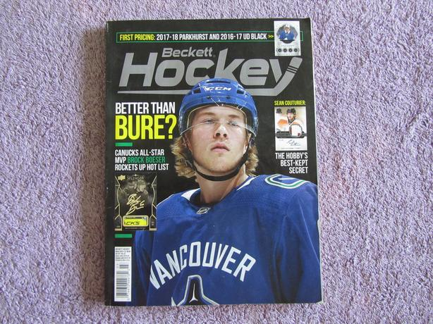 Beckett Nhl March 2018 Hockey Card Price Guide Central
