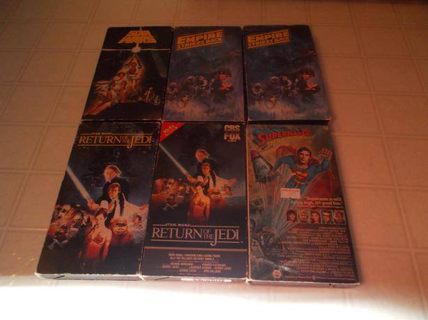 For Trade: Star Wars Trilogy, Superman IV Quest For Peace TT For VHS Movies