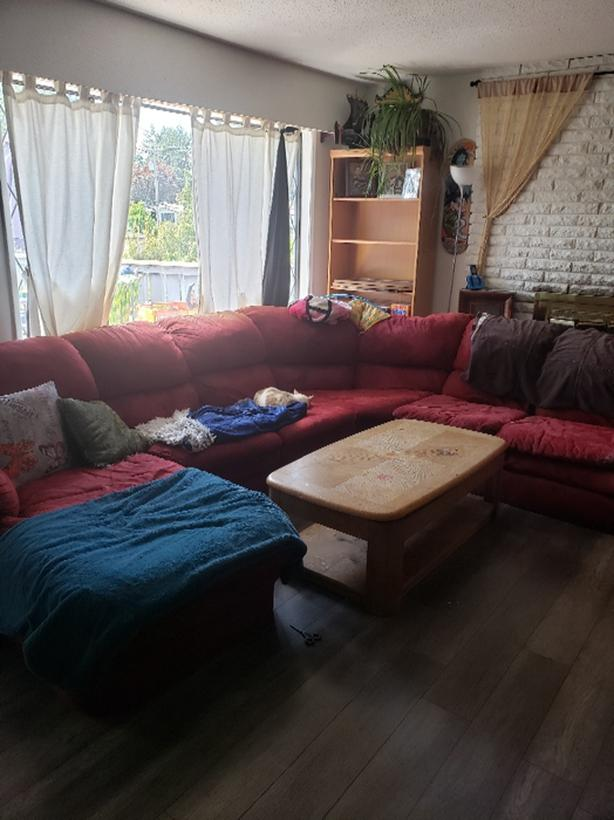 FREE: Red Sectional and Coffee Table